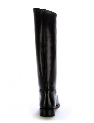 Bottes équitation noires en cuir demie mesure