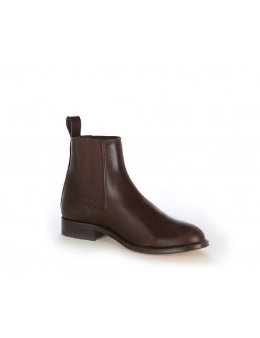 Bottines Chelsea homme en cuir marron - Bottines hommes artisanales