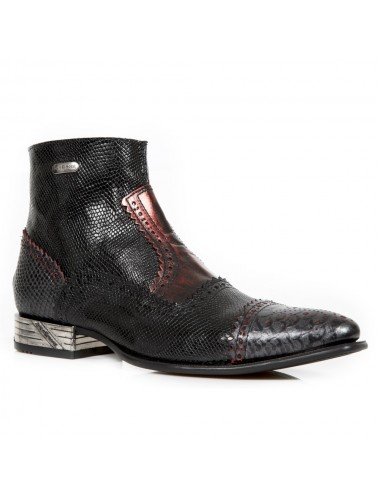Bottines homme rock serpent bicolores - Bottines homme artisanales