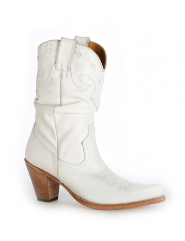 Bottes santiag country - Santiags femme blanche