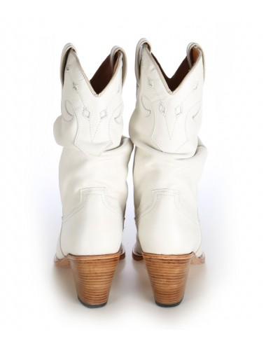 Bottes santiag country - Santiags femme blanche