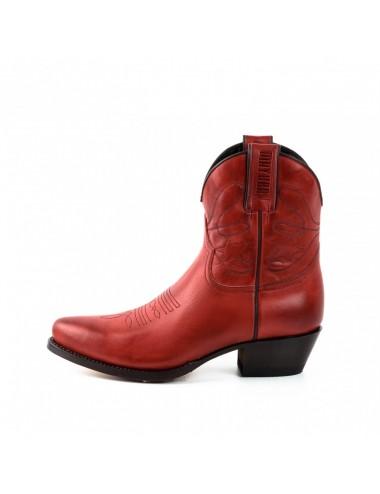 Boots santiag rouge femme