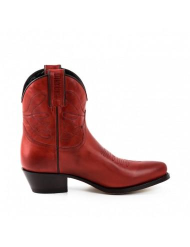 Bottines cowboy - Boots santiag rouge femme