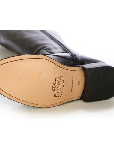 Bottes cavalières - Bottes anglaises cuir noir à lacets