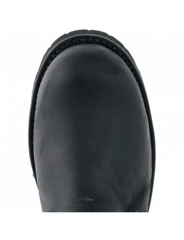 Boots motard - Boots moto cuir noir bout coqué