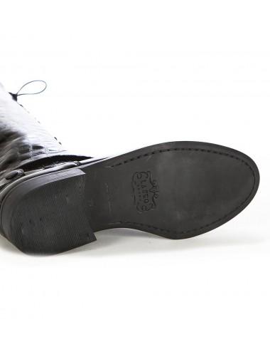 Bottes hautes cuir à lacets - Bottes cavalières artisanales