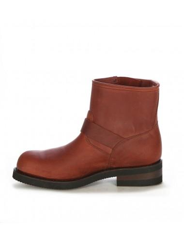 Boots motard - Boots moto cuir marron huilé