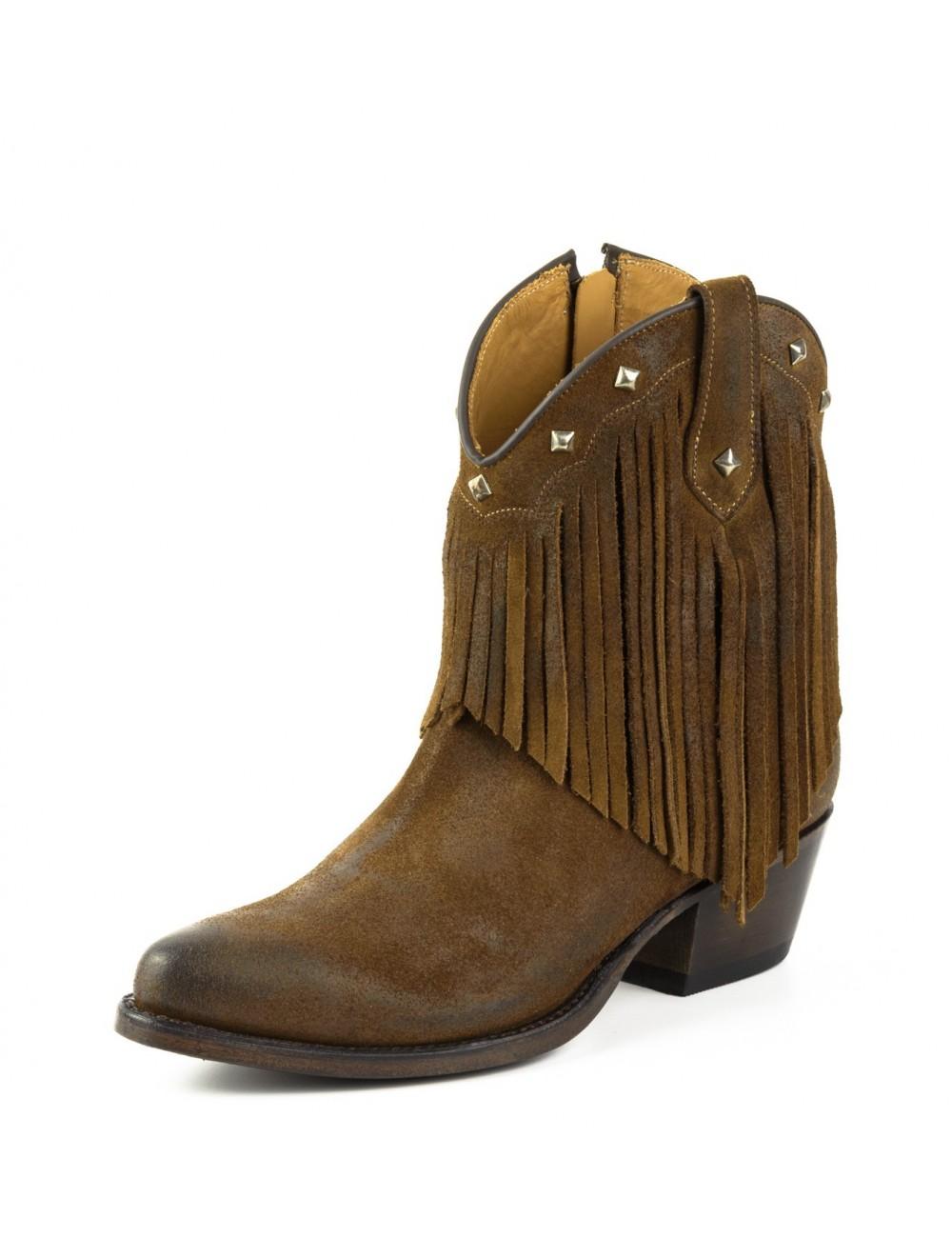 en ligne ici vente limitée meilleure collection Bottines femme cowboy franges
