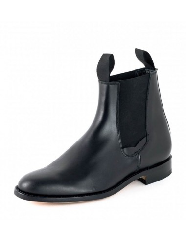 Bottines femme - Boots chelsea cuir noir artisanales