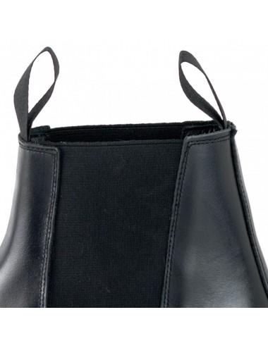 Boots chelsea cuir noir artisanales - Bottines homme artisanales