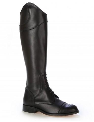 Bottes anglaises cuir noir à lacets - Bottes cavalières artisanales