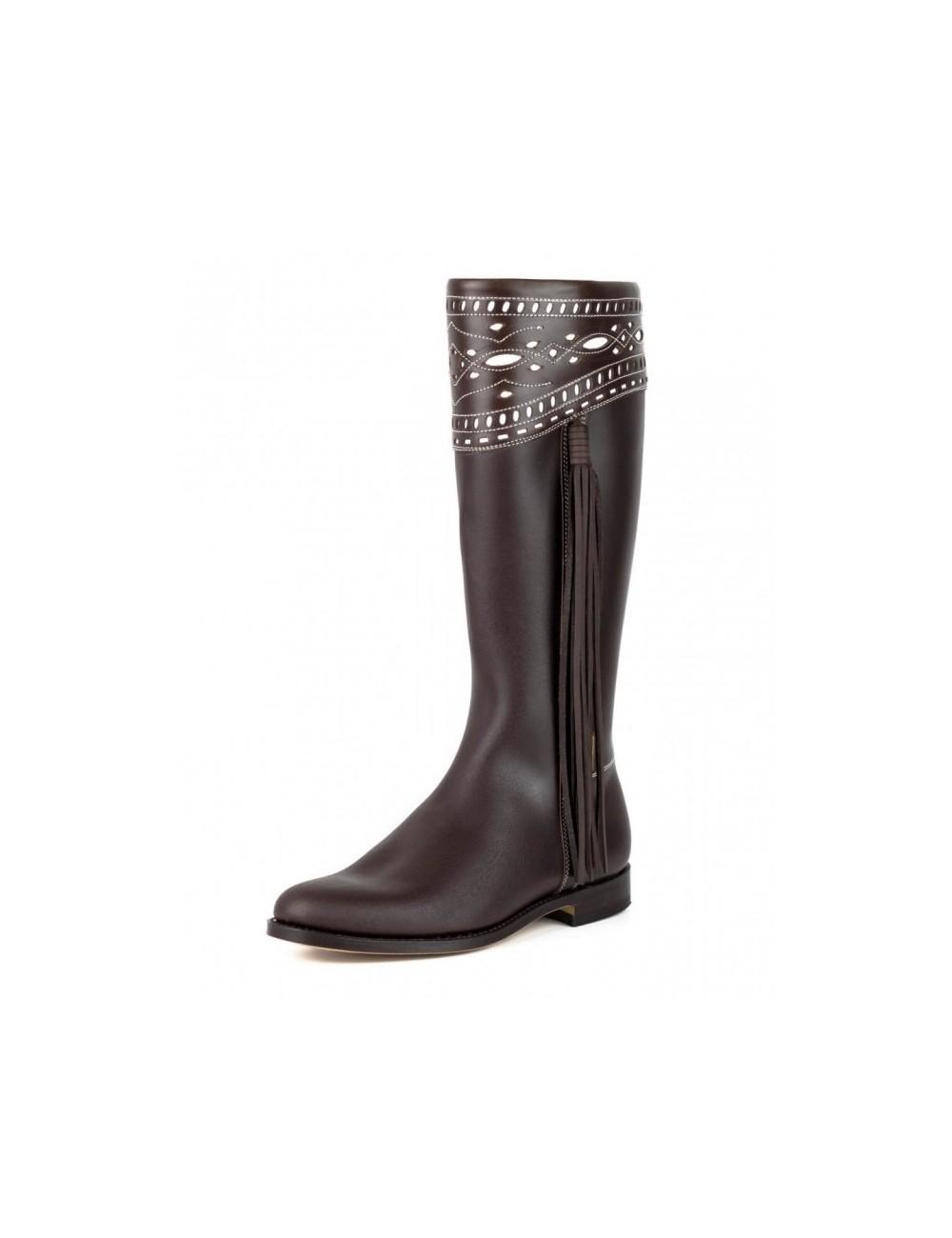cuir marron Bottes cavalières espagnoles femme DH29WIYeEb