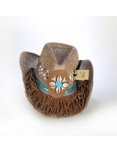 Chapeaux western cuir - Chapeau de paille western turquoise