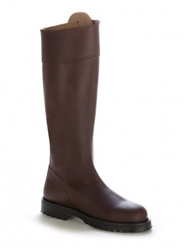 Bottes chasse montagne - Bottes de chasse cuir marron