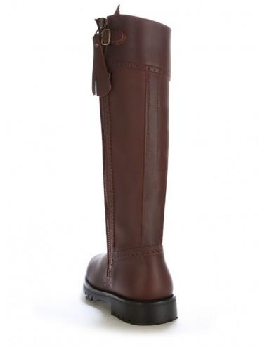 Bottes de chasse cuir marron - Bottes chasse et montagne artisanales