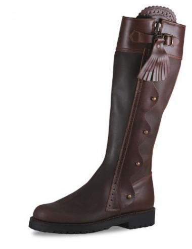 Bottes chasse montagne - Bottes de chasse cuir marron élégantes