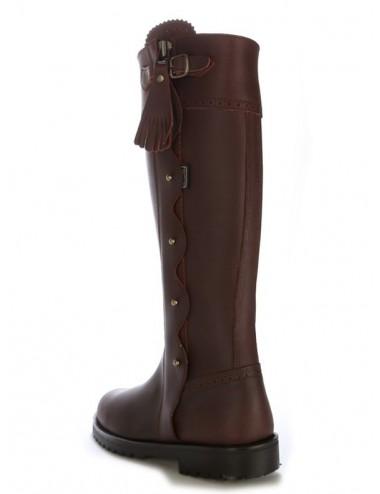 Bottes chasse montagne - Bottes de chasse cuir marron originales