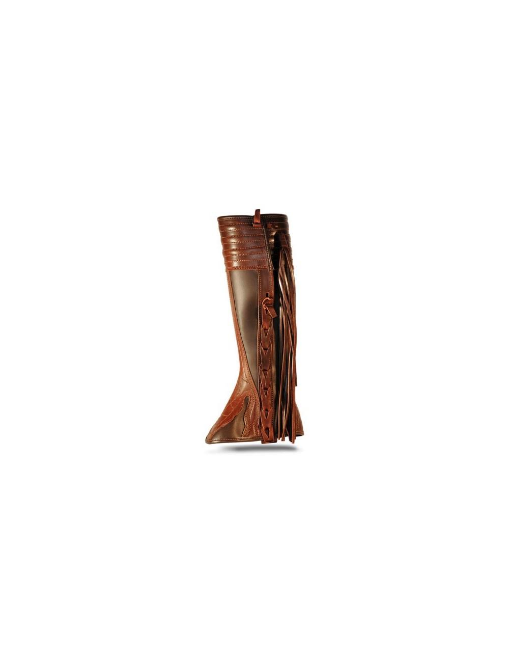 Mini Chaps - Mini chaps cuir marron à franges