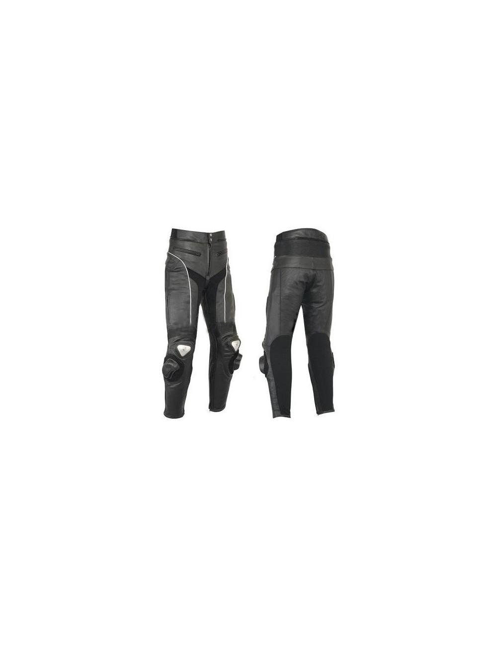 Pantalon moto cuir - Pantalon moto cuir noir haute protection