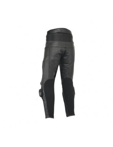 Pantalon moto cuir noir haute protection