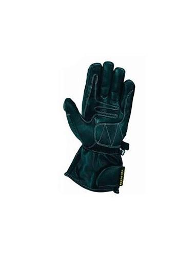 Gants moto cuir - Gants de moto en cuir noir haute protection