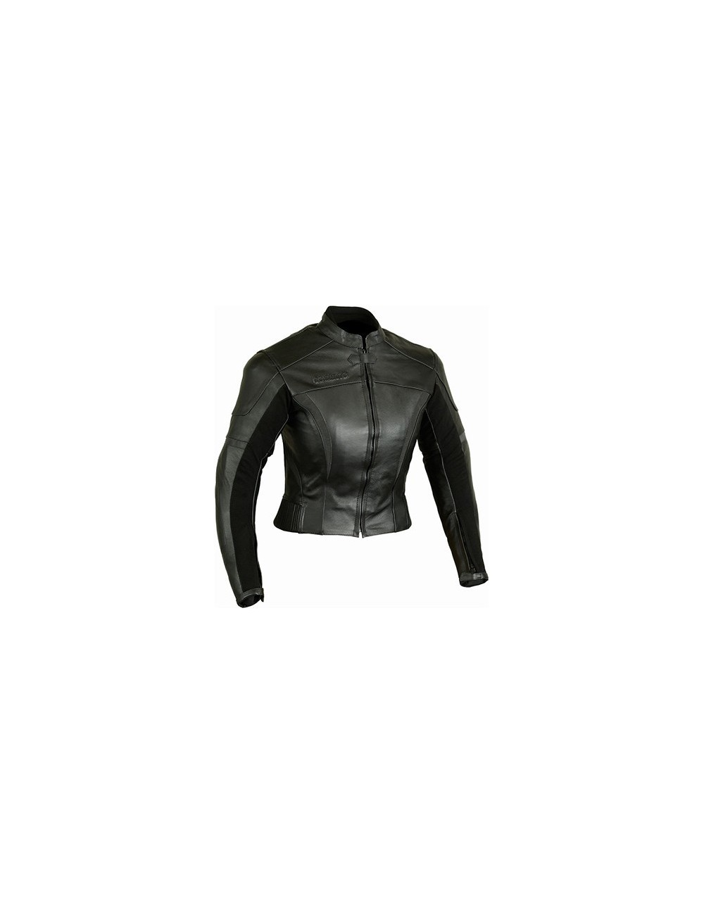 Blouson moto cuir - Blouson moto femme cuir noir coques protection