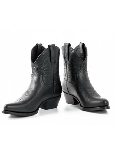 Bottines femme - Boots cowboy femme grises en cuir