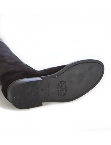 Bottes cuissardes sur mesure en daim noir