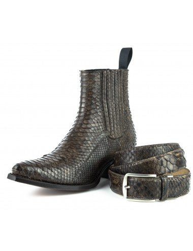 Boots santiags serpent marron
