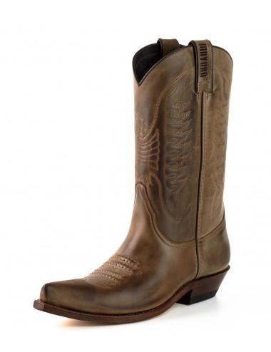 Bottes cowboy en cuir vintage - Bottes santiags country artisanales