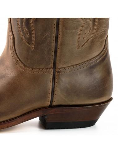 Bottes cowboy en cuir vintage