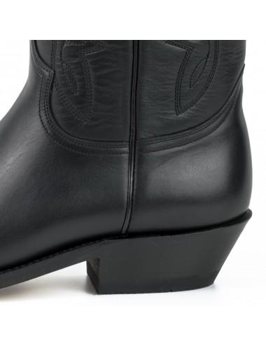 Santiags cuir noir classiques tendances