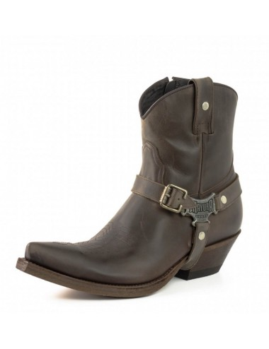 Bottines cowboy cuir marron - Bottines cowboy artisanales