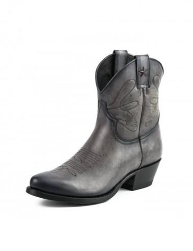 Boots santiag rouge femme - Bottines cowboy artisanales