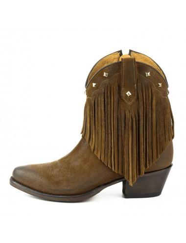 Bottines femme - Bottines femme cowboy franges