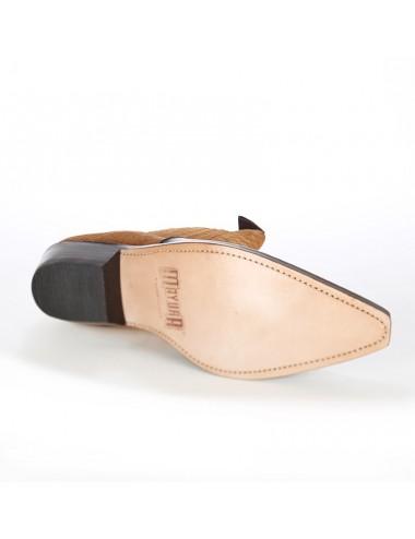 Boots santiags homme cuir camel