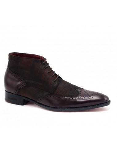 Boots homme lacets bordeaux