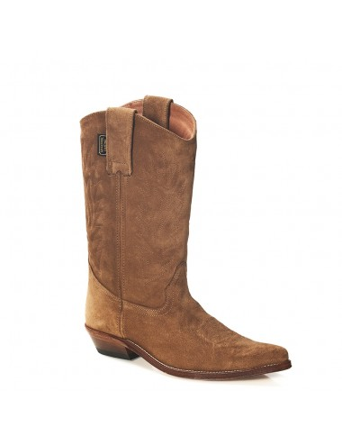 Santiags daim camel - Bottes santiags country artisanales