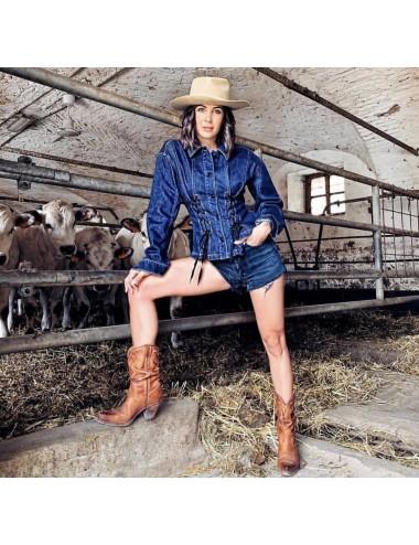 Santiags femme a talon - Bottes santiags country artisanales