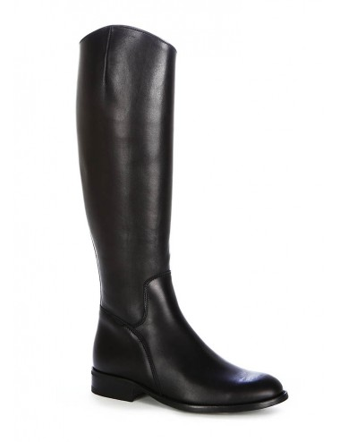 Bottes cavalières cuir noir femme - Bottes moto sur mesure
