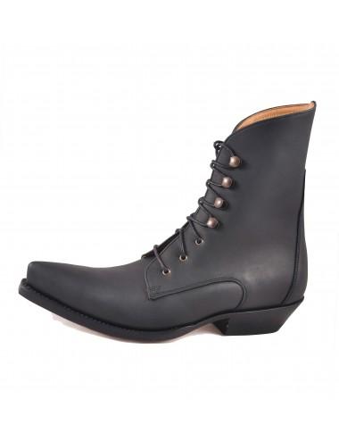 Boots santiags a lacets pour femme - Bottines cowboy artisanales