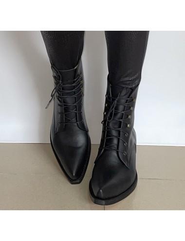 copy of Boots santiags a lacets pour femme - Bottes moto sur mesure
