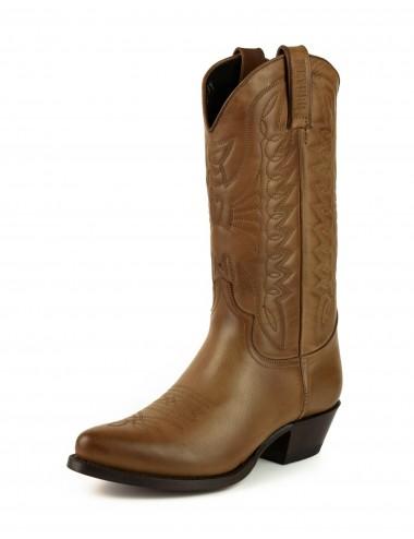 Santiags cognac en cuir - Accessoires pour chaussures