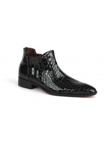 Bottines homme cuir croco rouge - Accessoires pour chaussures