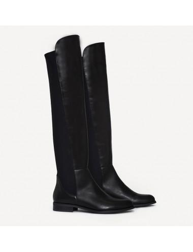 Bottes genouillères cuir et élastique - Accessoires pour chaussures