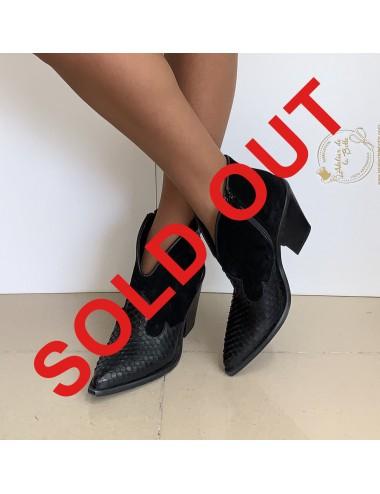 Low boots cowboy cuir femme - Accessoires pour chaussures