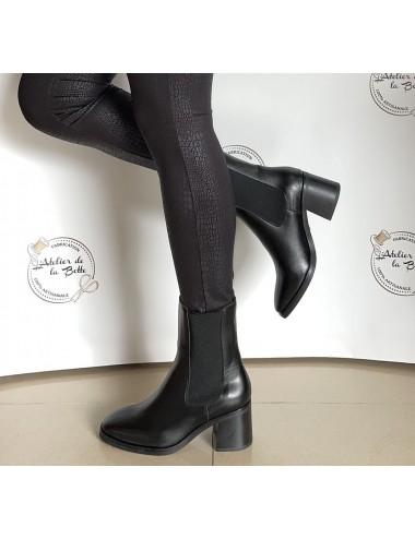Bottines Chelsea noires à talon - Accessoires pour chaussures
