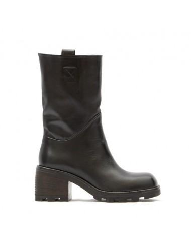 Bottines cuir noir semelles crantées - Accessoires pour chaussures
