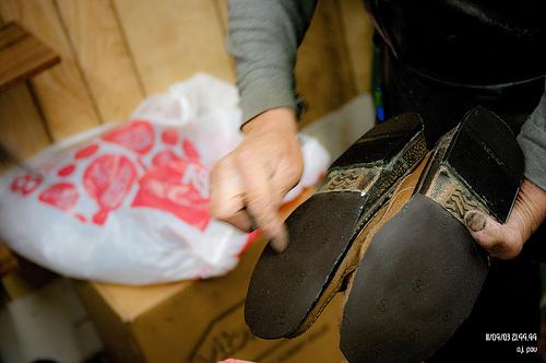 réparer le cuir chaussures bottes