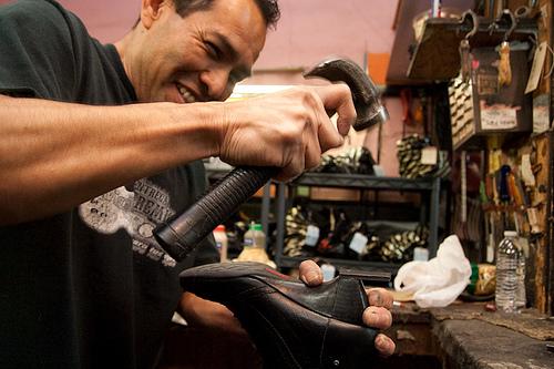 Réparer cuir chaussures